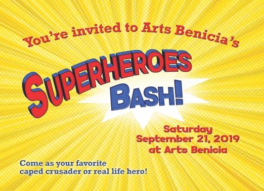 Arts Benicia is hosting a Superheroes Bash! Art Auction