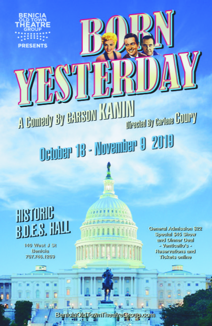 Benicia Old Town Theatre Group presents BORN YESTERDAY