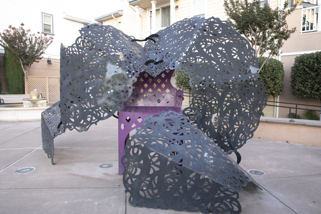 Public art project on First Street, Benicia