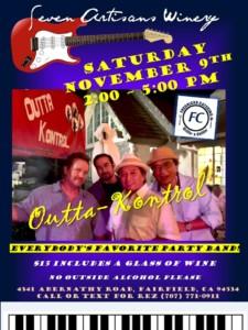 Outta-Kontrol will be rocking Seven Artisans Winery this Saturday @ Seven Artisans Winery | Fairfield | California | United States