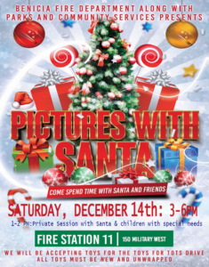 Pictures with Santa @ Benicia Fire Department | Benicia | California | United States