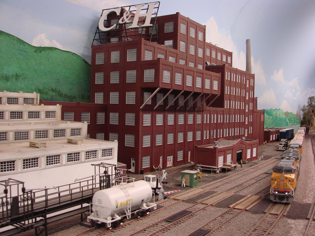 Model train and C&H factory