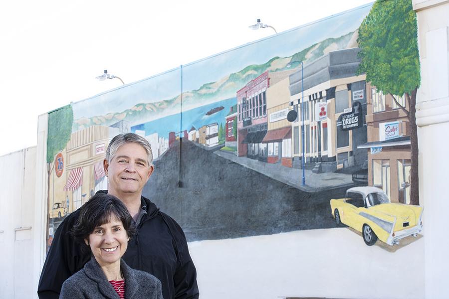 Yesteryears: a mural in progress