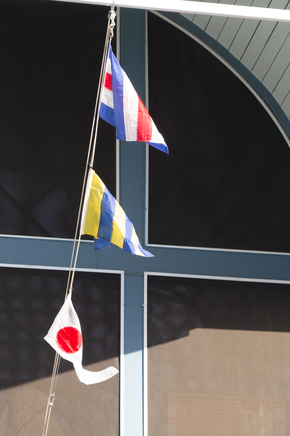 Signal Flags in the Wind and Summer Sailing Lessons