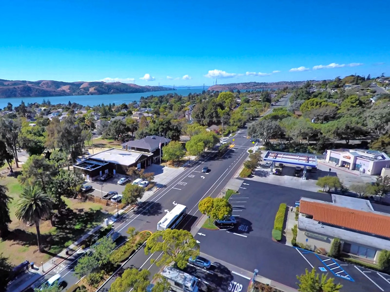 Highlighting Benicia's Scenic Beauty From Above