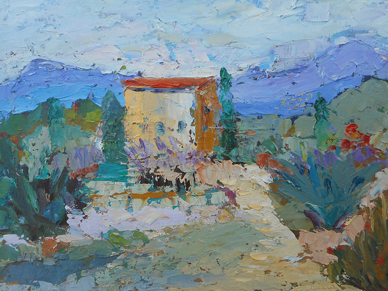 Paintings by Susan Johnson at Benicia Plein Air Gallery