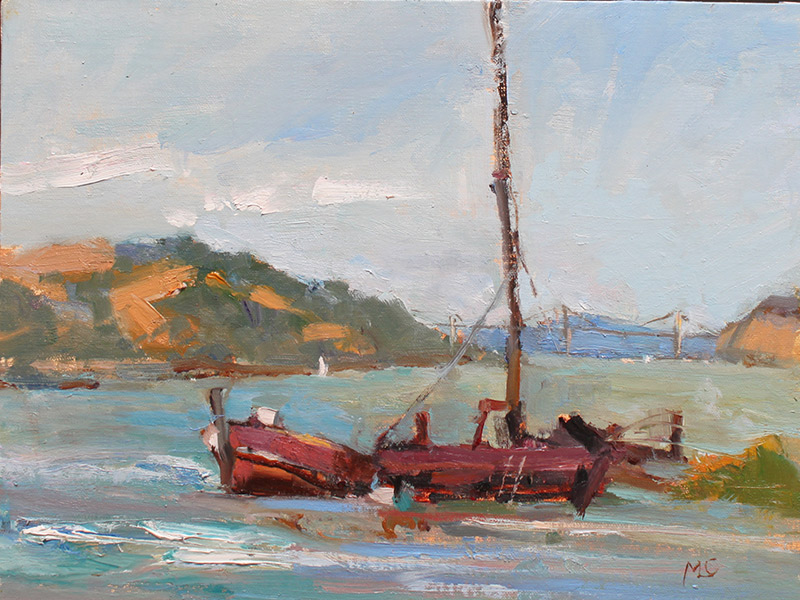 Benicia Plein Air Gallery's Featured Artist Is Our Cover Painter MaryLou Carreia