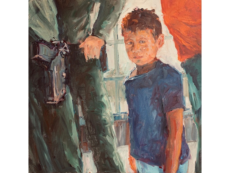 Artist Paintings Depict The U.S. Border Tragedy, Tapping Into Her Personal Childhood Experience