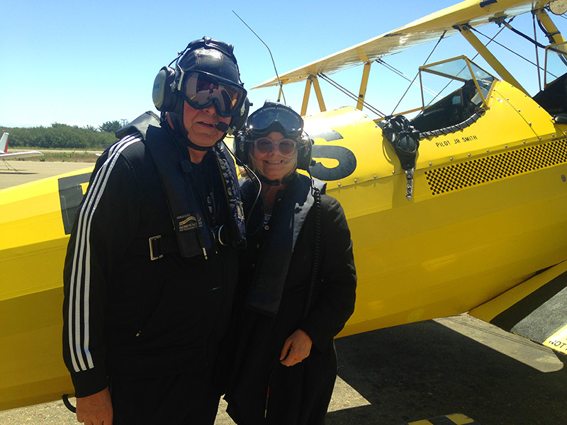 Trends: Scott & Christina Strawbridge Take A Spontaneous Biplane Ride