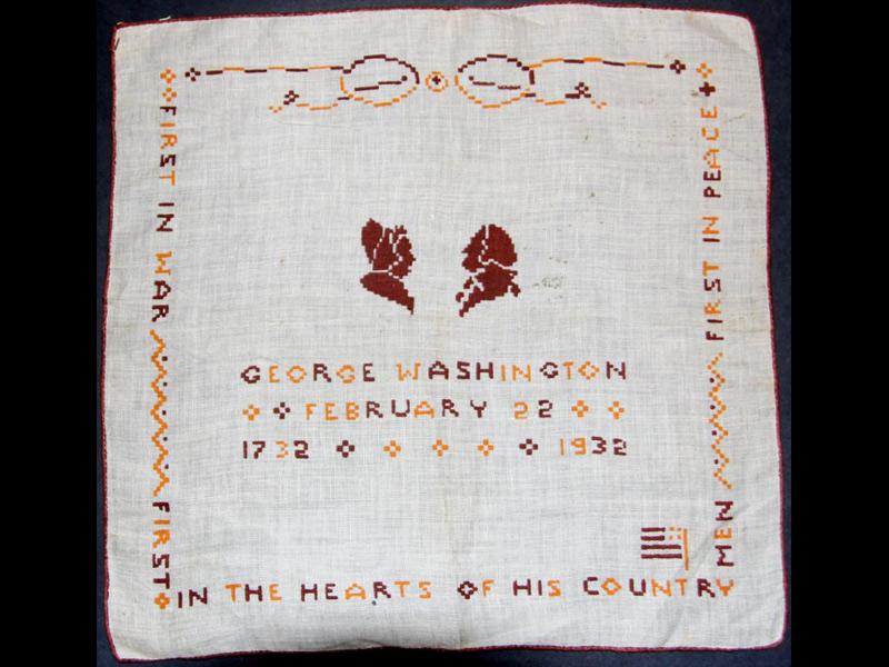 Backwards Glance: Antique Stitchery Extols Washington's Values
