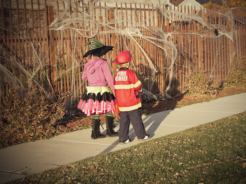 Little Trick r Treaters on Halloween