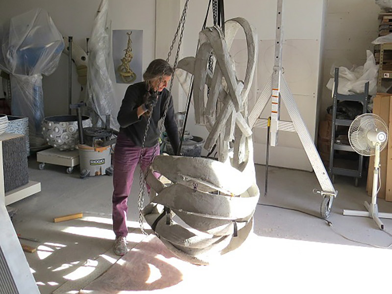 'Concrete Coutour'—A Fitting Description For Artist Mary Oros' Work