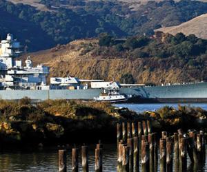 The USS Iowa Departs Benicia