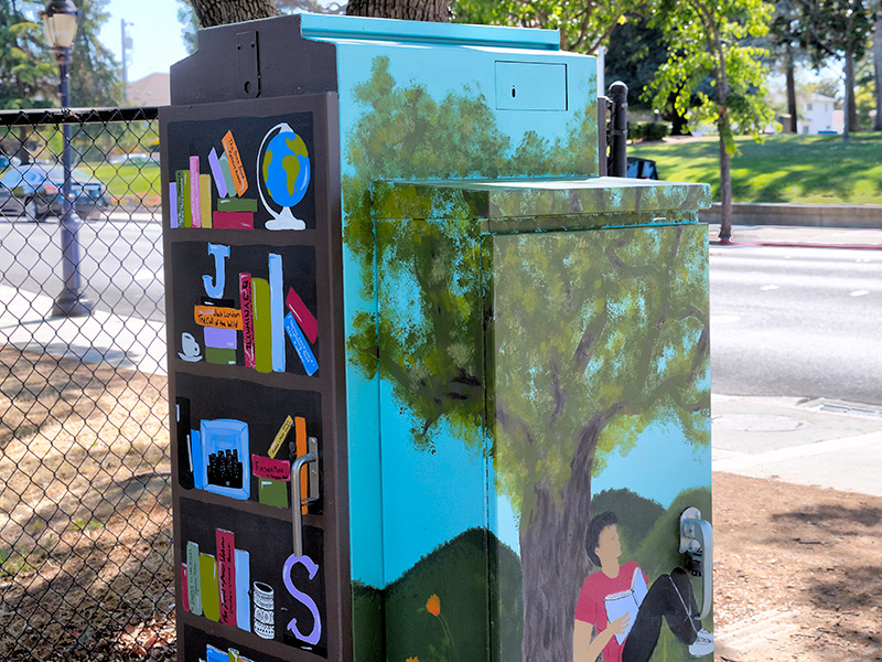 Graphic Motifs By Local Artists Brighten Up Drab Traffic Signal Boxes