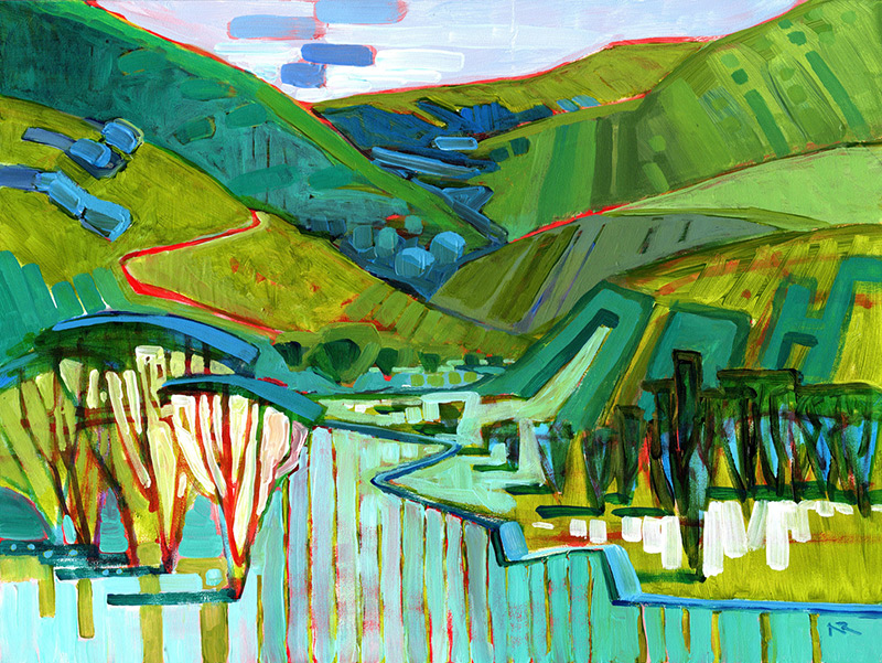 Nancy Roberts Acrylic Landscapes At Benicia Plein Air Gallery