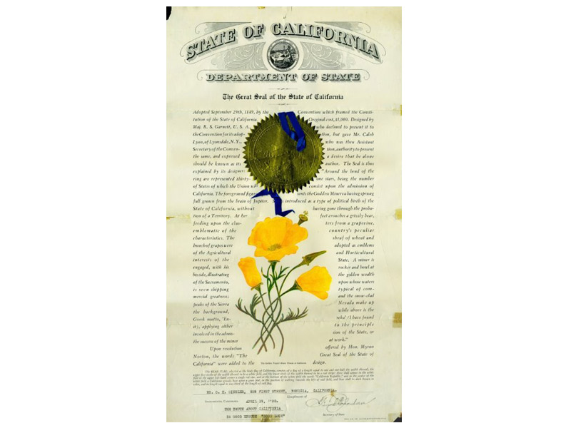 An Historic Rendering & Explanation Of The State Seal Of California