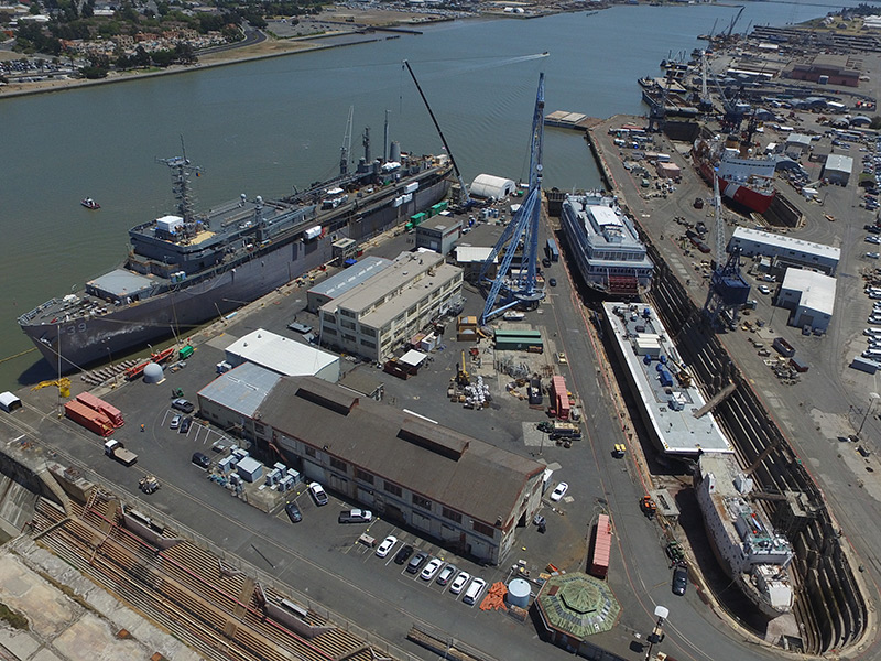 Mare Island's Job Largess Spills Over Into Vallejo And Benicia