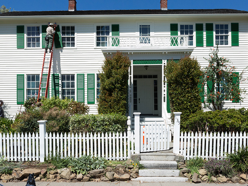 Fischer-Hanlon House Shines With Long-awaited Paint & Repairs