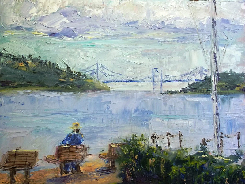 Artists From Around The Bay Participate In Plein Air Paint-off Event